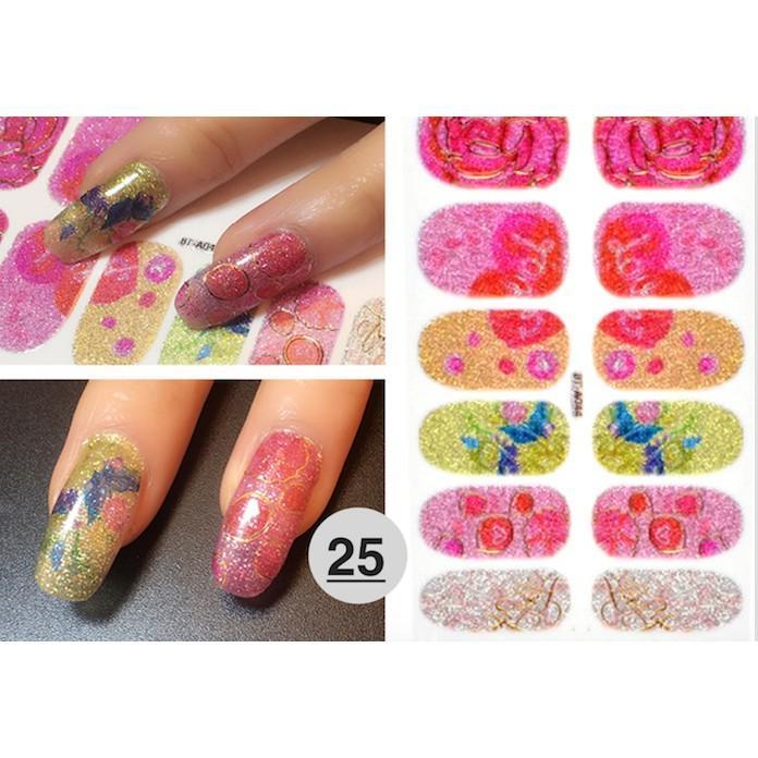 nail art sticker dán móng tay N07 (quà tặng 1 giũa và 2 khăn khô vô trùng) tốt nhất