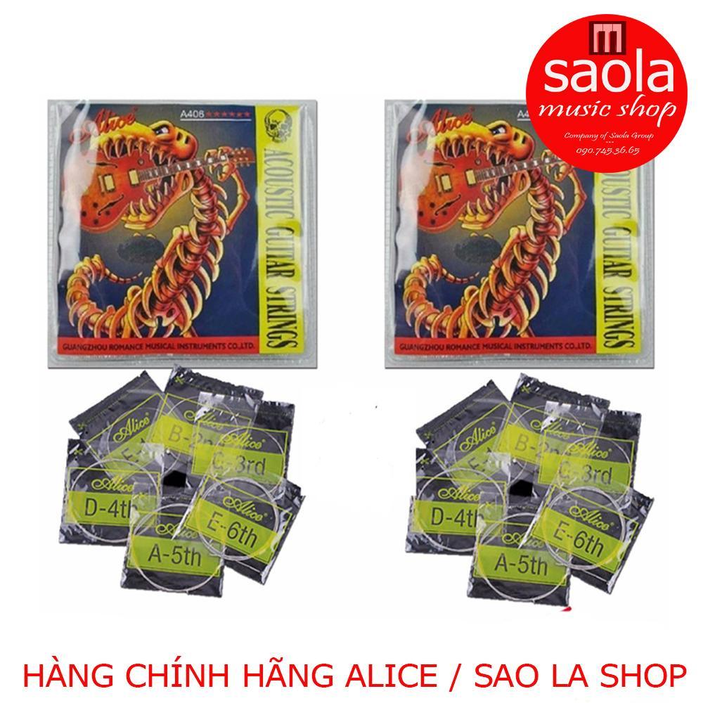Deal Khuyến Mại Bộ 2 Hộp Dây đàn Guitar Acoustic Alice-A406 (2 Hộp 12 Dây)