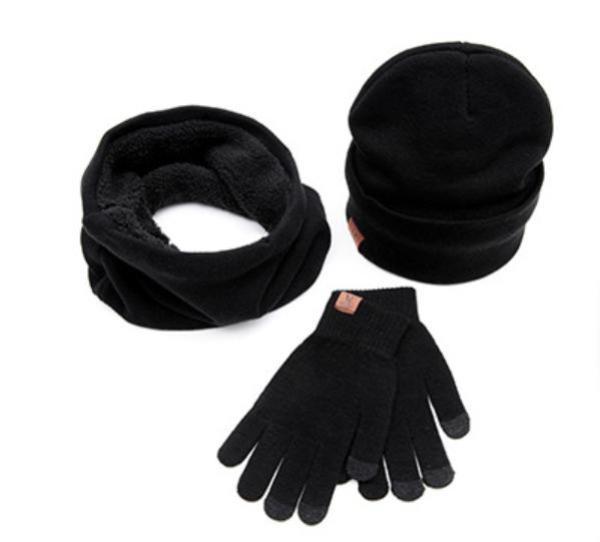 Bộ găng tay cảm ứng mũ len và khăn cổ lọ nam ấm áp tiện dụng cho mùa đông New 2020
