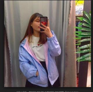 áo khoác dù 2 mặt nữ chống nắng mưa cá tính 2018 ( hình thật+ video chân thật tự tin mua hàng) thumbnail