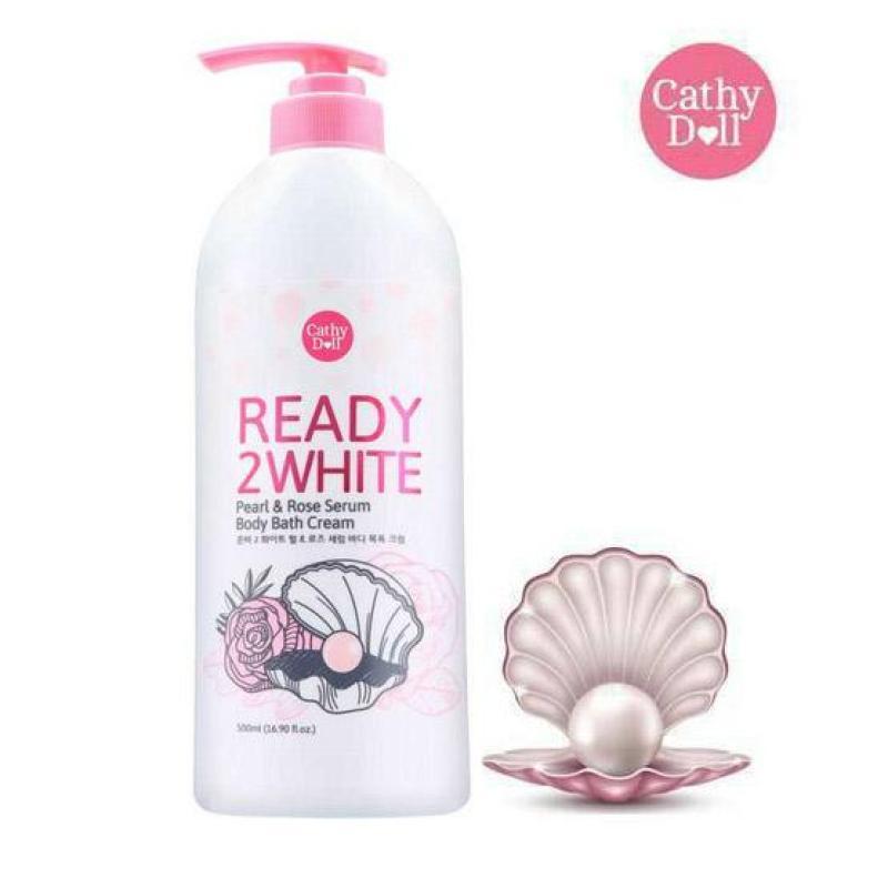 Sữa Tắm Sáng Da Chiết Xuất Ngọc Trai & Hoa Hồng Cathy Doll  Pearl & Rose Serum Body Bath Cream 500ml nhập khẩu