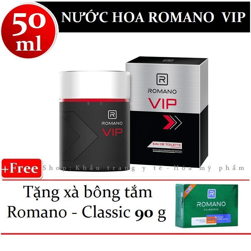 Romano - Nước hoa cao cấp VIP 50 ml + Tặng xà bông tắm 90g