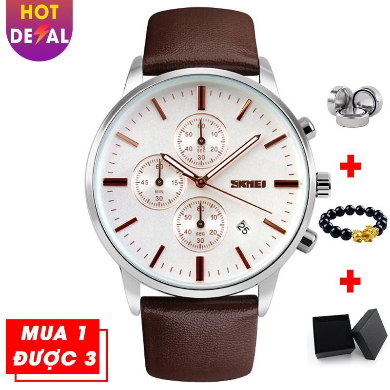 Đồng hồ nam sang trọng 6 kim bấm giờ thể thao SKMEI VK018 phong cách doanh nhân bán chạy