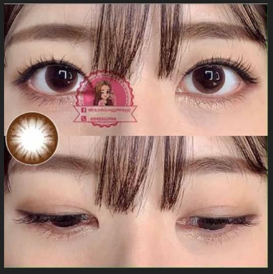 Hình ảnh COMBO 2 : NƯỚC NGÂM + LENS Kính áp tròng - Lens NÂU- CHOCO TỰ NHIÊN Hàn Quốc