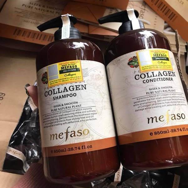 BỘ Dầu Gội Xả Collagen Mefaso