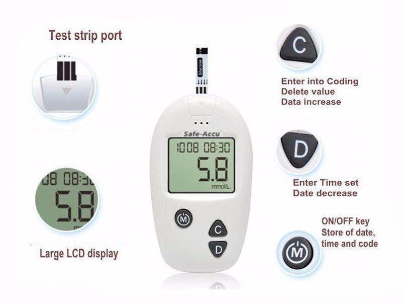 Bộ máy đo đường huyết Sinocare tặng 50 que thử và 50 kim chích máu