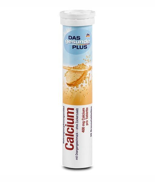 Hộp viên sủi bổ sung canxi Das Gesunde Plus Calcium, 20 viên nhập khẩu