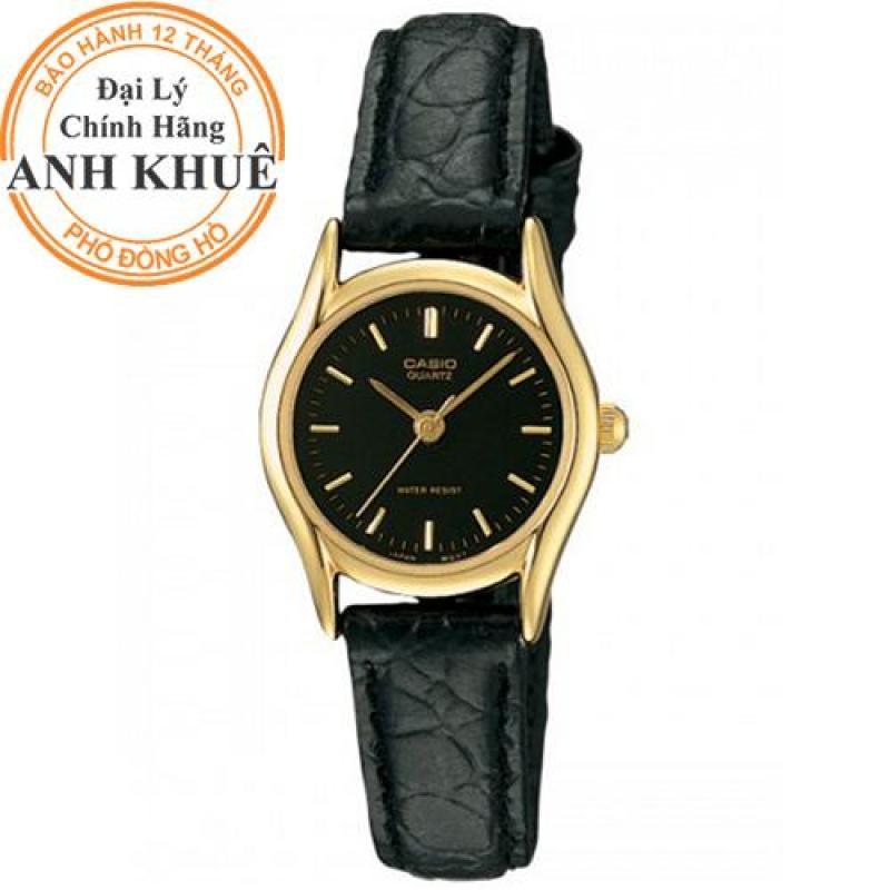 Đồng hồ nữ dây da casio Anh Khuê LTP-1094Q-1ARDF