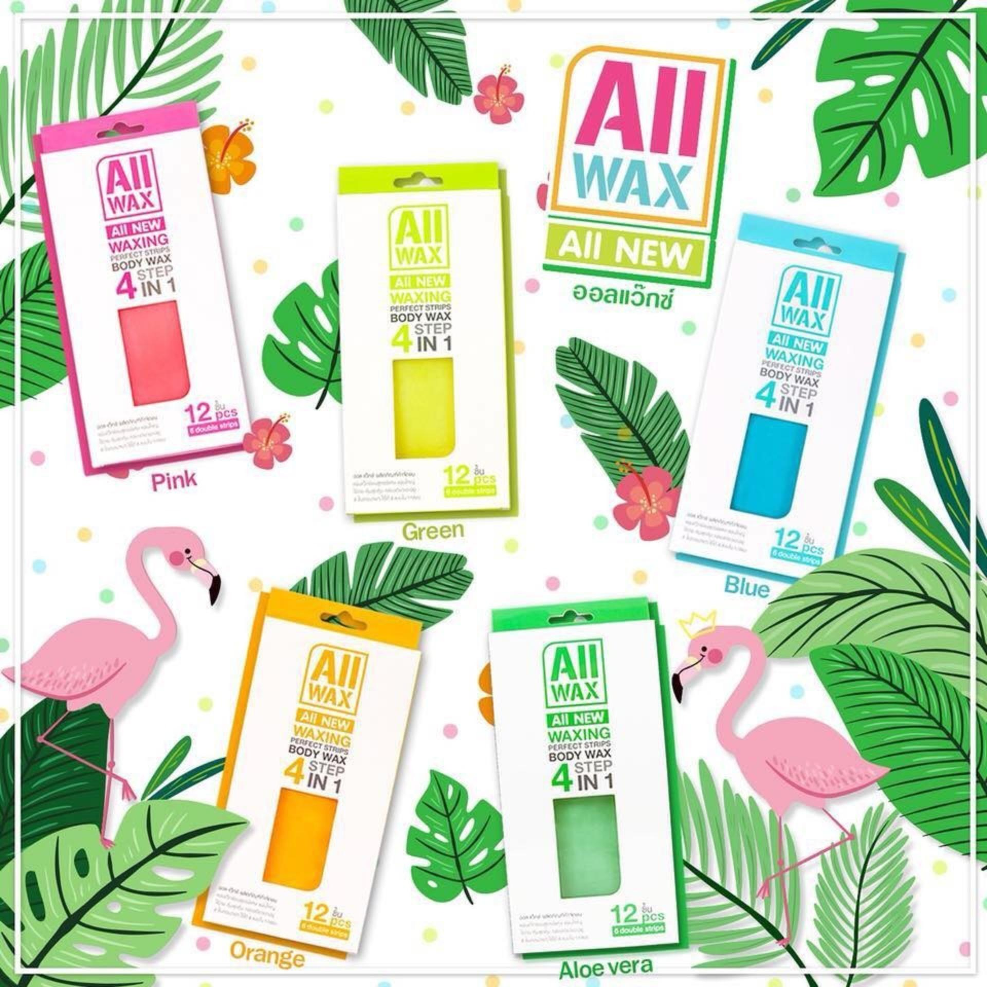 Wax lông dạng miếng All Wax All New Perfect Strips Body Wax 4 Step In 1 cao cấp