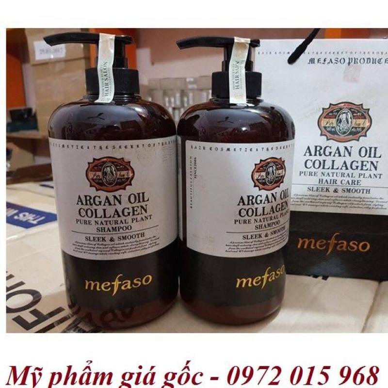 Bộ dầu gội xả Mefaso Collagen chai 850 ml 1 cặp 2 chai - Mefaso800ml nhập khẩu