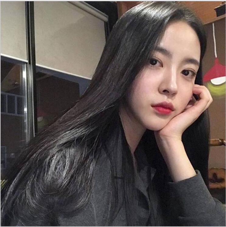 [TẶNG KÈM LƯỚI] Tóc giả nữ suông thẳng tự nhiên Hàn Quốc CÓ DA ĐẦU -  TG2160 ( MÀU ĐEN ) nhập khẩu