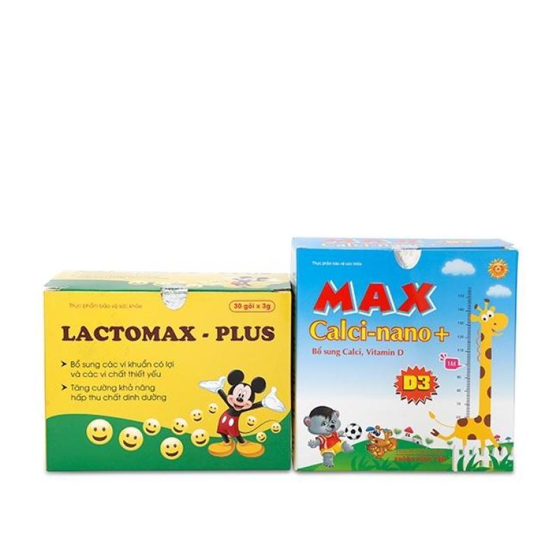 Bộ Max Calci Nano D3 Canxi và Lactomax-Plus ăn ngon B2CXL-32 cao cấp