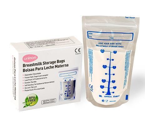 Túi trữ sữa Unimom 210ml - 60 túi