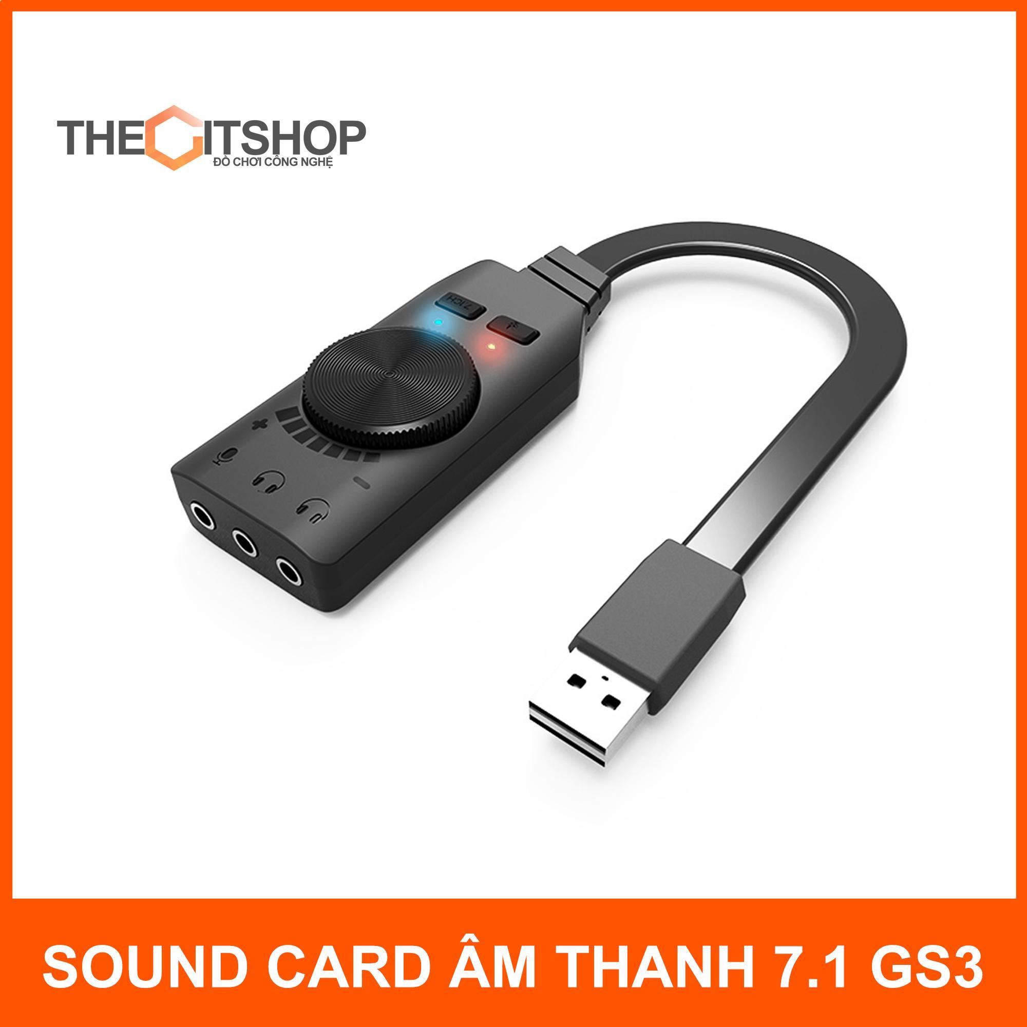 Sound card âm thanh 7.1 cho máy tính PC Plextone GS3 - chuyên game - phim