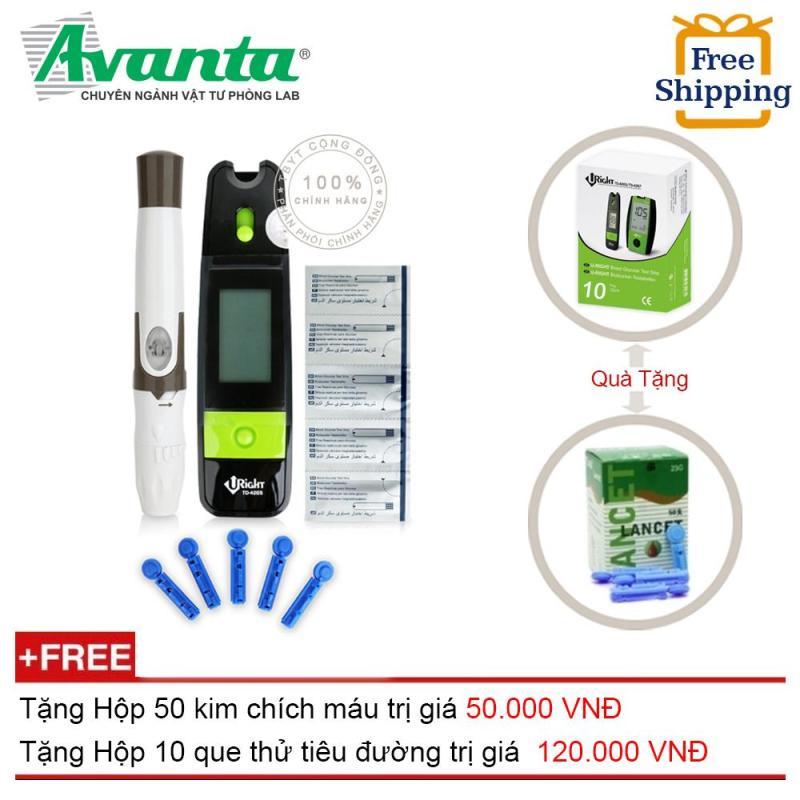 Máy đo đường huyết Uright TD-4265 + Hộp 50 kim chích máu và 10 que thử Uright (OEM) nhập khẩu