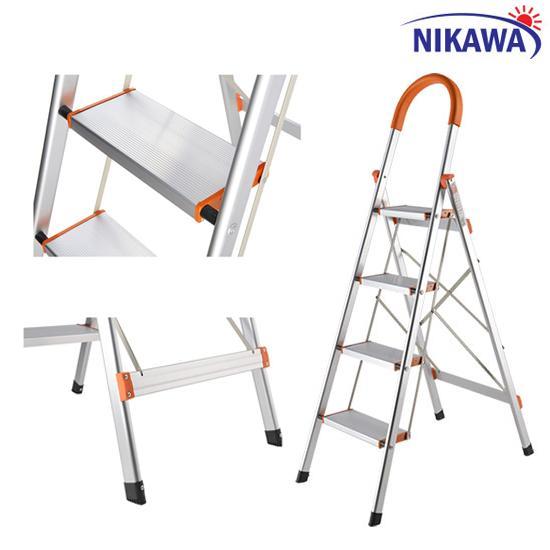 Thang nhôm ghế 4 bậc Nikawa Nhật Bản NKA-04