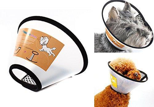 Miễn phí HCM>129k -Vòng chống liếm cho chó mèo SIZE 7 (2-4KG) Loa chống cắn chó mèo ( loa 7)-HP10515TC Nhật Bản