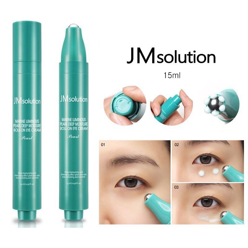 Lăn Dưỡng Mắt Chuyên Sâu Jm Solution Roll On Eye Cream 15ml # Marine Luminous Pearl Deep nhập khẩu