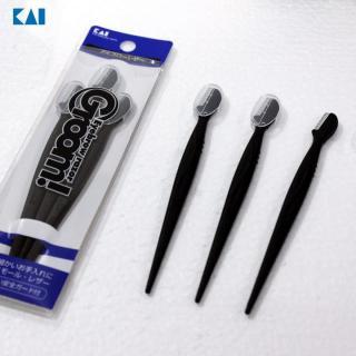 Set 3 dạo cạo lông mày cán dài KAI màu đen hàng Nhật thumbnail