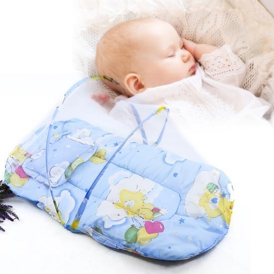 Mùng chụp tự bung chống muỗi cho bé (có nệm lót)