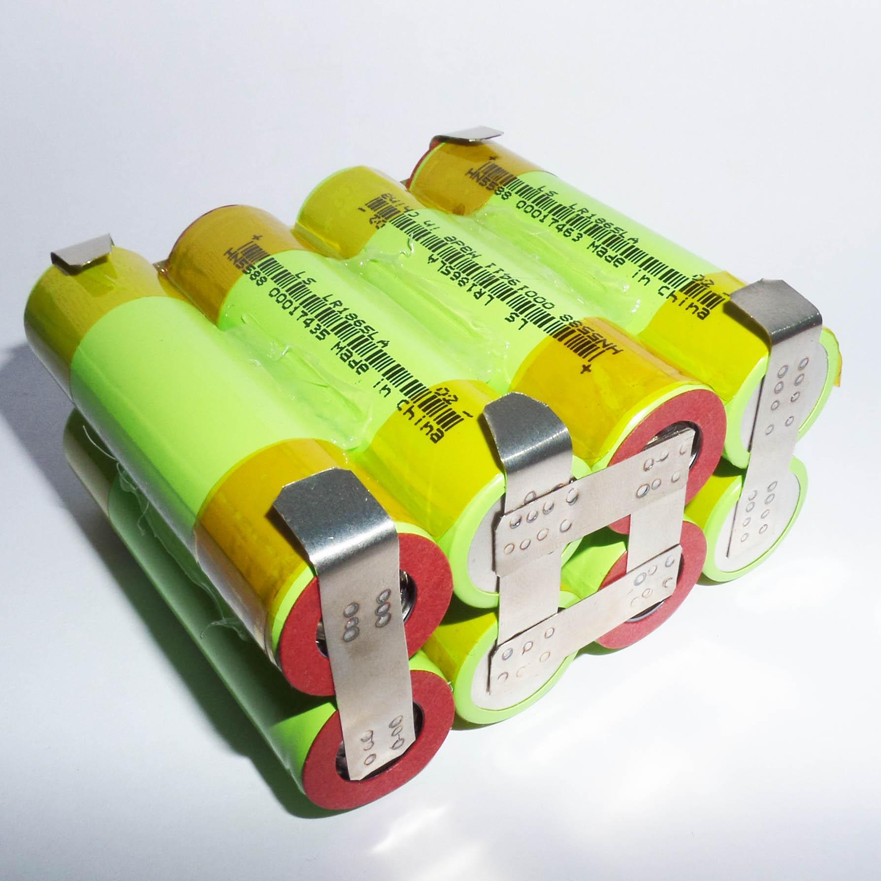 Pack pin 14.4V Cell LiShen 4S2P - dung lượng 4AH - Dòng xả 40A - Sử dụng thay thế cho lõi pin MAKITA 14.4V, 16.8V