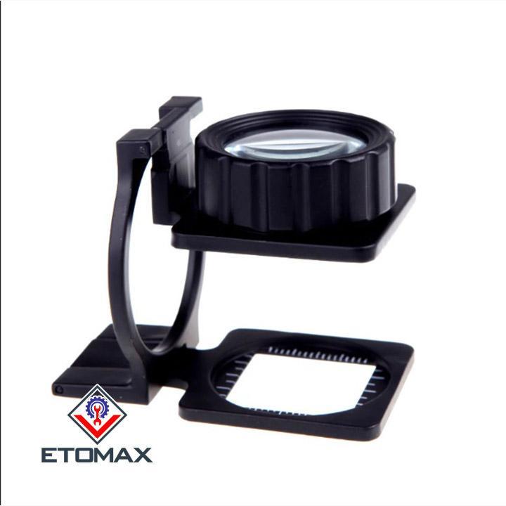 Kính lúp mini 15x có thước đo