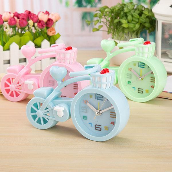 Nơi bán Đồng hồ báo thức để bàn hình xe đạp cực cute