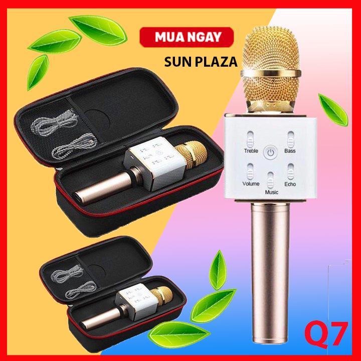 Hình ảnh Micro karaoke Bluetooth thế hệ mới 2017 kiêm loa Q7 3 trong 1 Tặng nút chống bụi