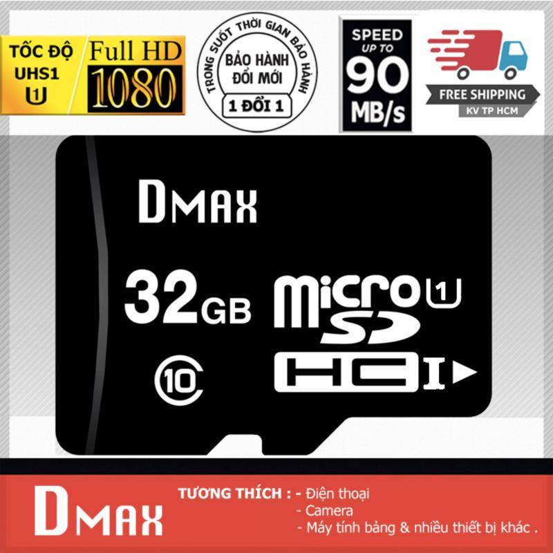 Thẻ nhớ 32GB tốc độ cao UHS1 U1, up to 90MB/s Dmax Micro SDHC class 10 - Bảo Hành 5 năm (PT)