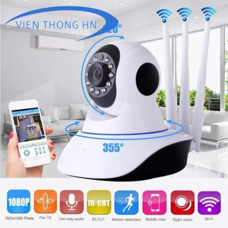 Camera YOOSEE WIFI IP XOAY 360 ĐỘ 3 RÂU 720P - HÀNG CTY - BH 1 ĐỔI 1