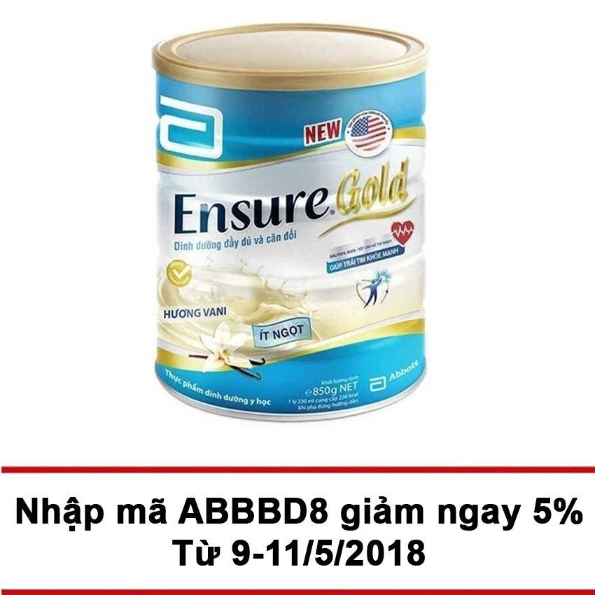 Bán Lon Sữa Bột Ensure Gold Hương Vani It Ngọt 850G Nguyên