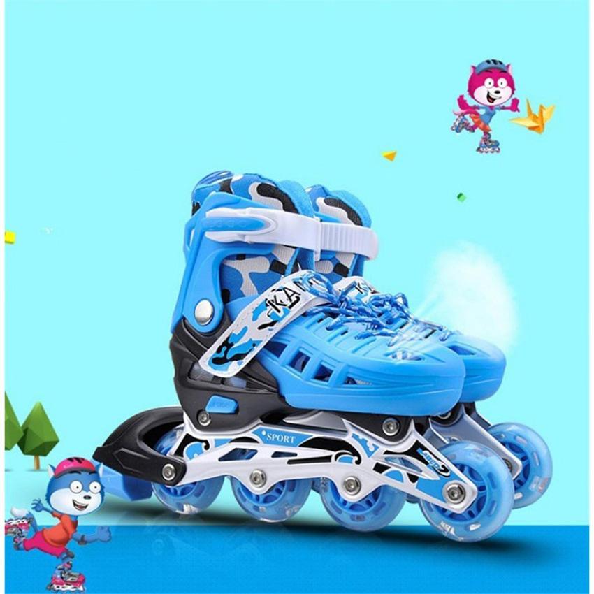 Giày batin giá rẻ, Giày trượt một bánh, Giày trượt băng trẻ em tặng mũ và đồ bảo hộ (5 đến 14 tuổi) nhiều màu sắc bắt mắt, thiết kế cực dễ tập và an toàn cho trẻ - GIAO HÀNG THU TIỀN TẦN NHÀ - BẢO HÀNH DÀI HẠN