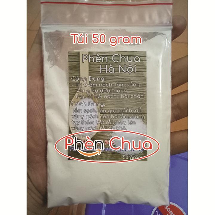 Bột Phèn Chua Hà Nội trị Hôi Nách, Hôi Chân - Túi 50g