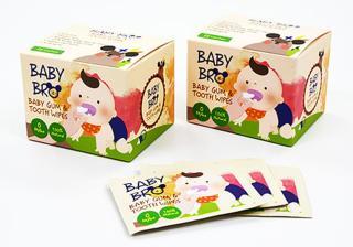 Bộ 2 hộp 25 khăn ướt lau răng miệng, rơ lưỡi cho bé BaBy Bro Made in Korea thumbnail