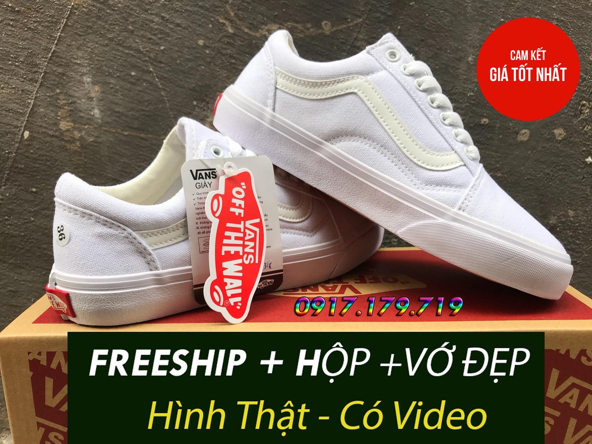 Hình ảnh [FULLBOX+FREESHIP+VỚ] Van Old Skool Full White