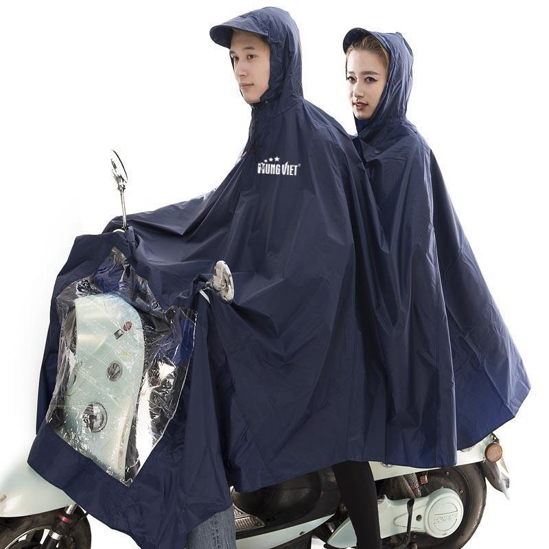 Áo mưa 2 đầu vải siêu nhẹ chống thấm Hưng Việt