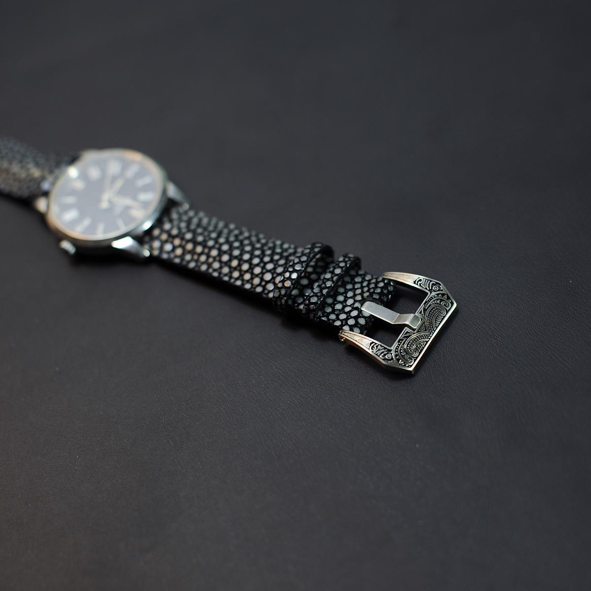 Dây đồng hồ da Cá Đuối - Đồ da handmade - Dây đồng hồ Mino Crafts VI475 bán chạy