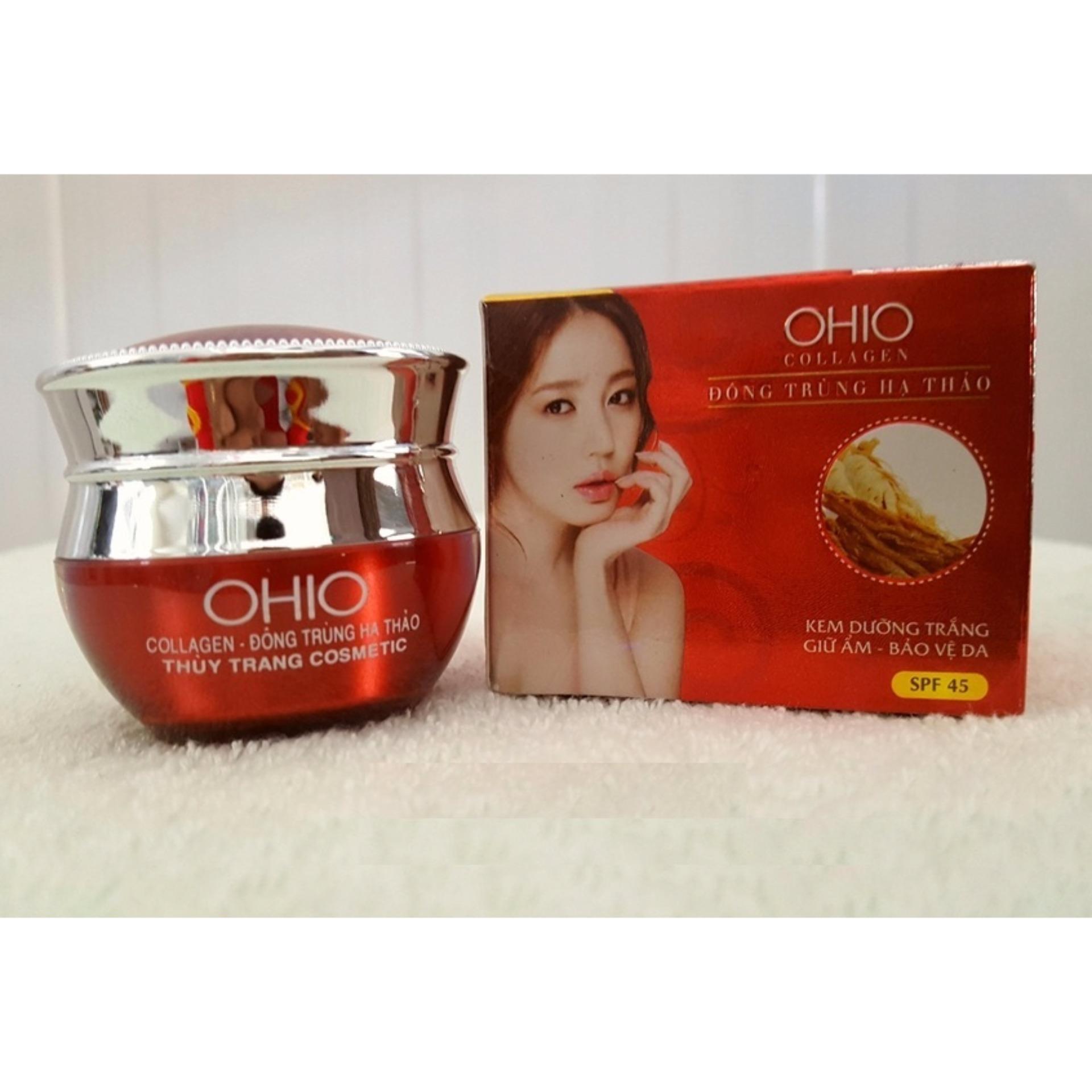 Hình ảnh Kem dưỡng trắng - Giữ ẩm - Bảo vệ da OHIO Collagen - Đông Trùng Hạ Thảo 20g
