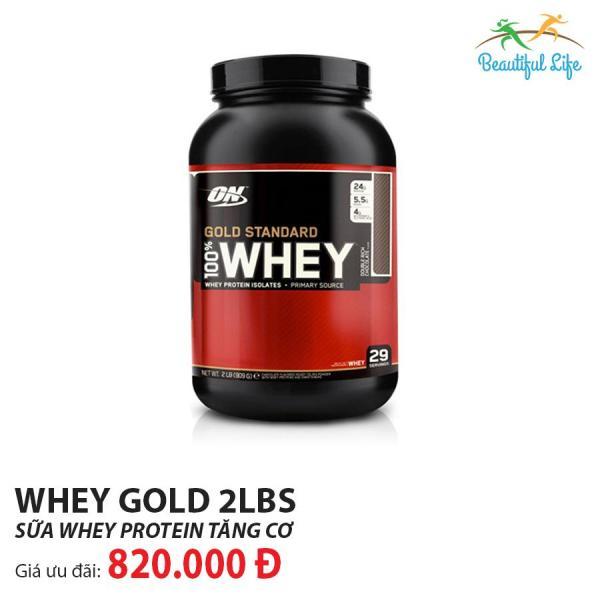 Thực phẩm bổ sung Optimum Nutrition Whey Gold Standard 2Lbs giá rẻ