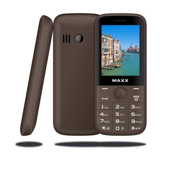 Điện thoại di động MAXX N6610 màn hình cong rộng 2.4 inch, pin khủng 1500 mAh (Cà phê)
