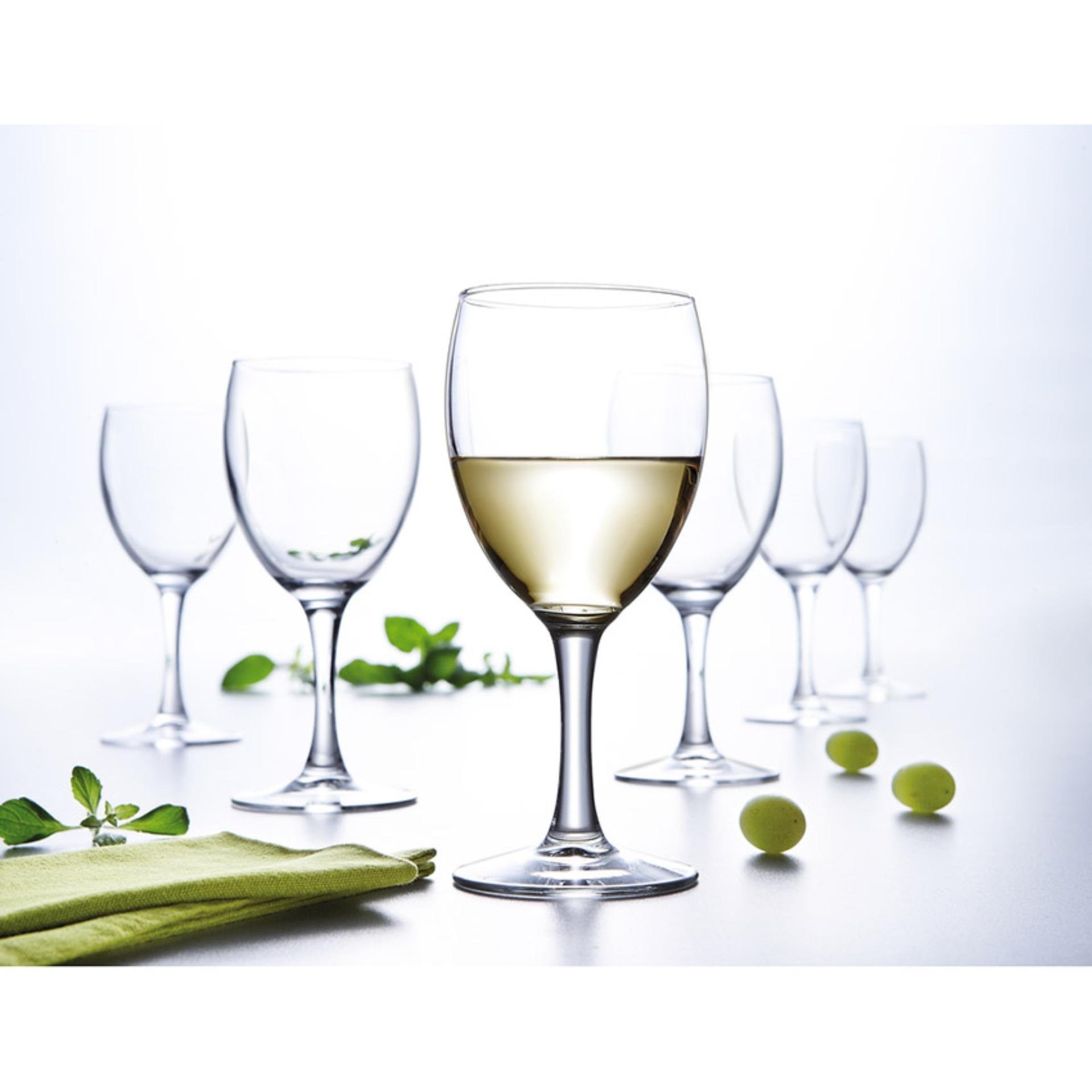 Giá Bán Bọ 6 Ly Rượu Vang Thủy Tinh Luminarc Elegance 140Ml 13729 Trong Suốt Nguyên