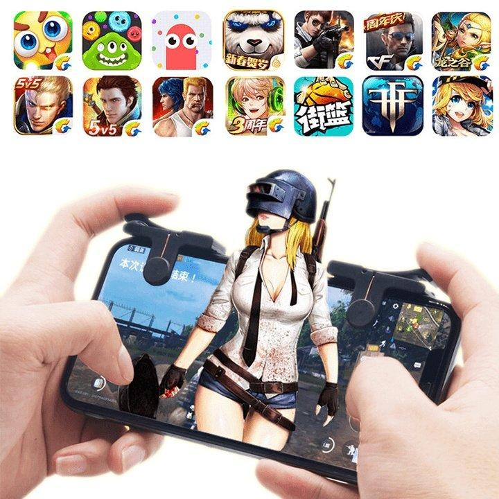 Hình ảnh Nút bấm chơi game cơ C9 PUBG , ROS – Phiên bản mới nhất V 5.0, 1 bộ gồm 2 chiếc