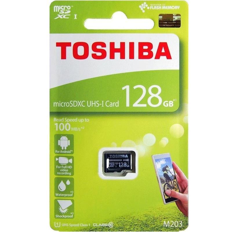 Thẻ nhớ MicroSDXC Toshiba M203 UHS-I U1 128GB 100MB/s (Đen)