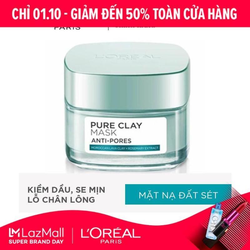 Mặt nạ đất sét kiềm dầu se mịn lỗ chân lông LOreal Paris Pure Clay mask Anti pores
