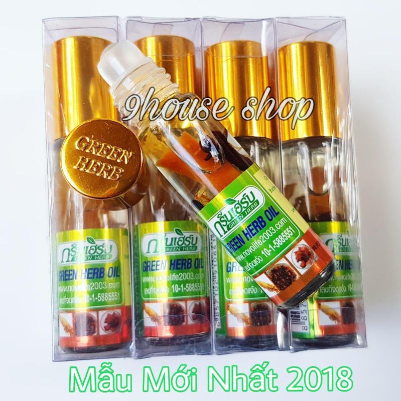 Lốc 12 Dầu Nhân Sâm Ginseng Green Herb Oil Thái Lan (nhập khẩu) - 8ml x12 chai nhập khẩu