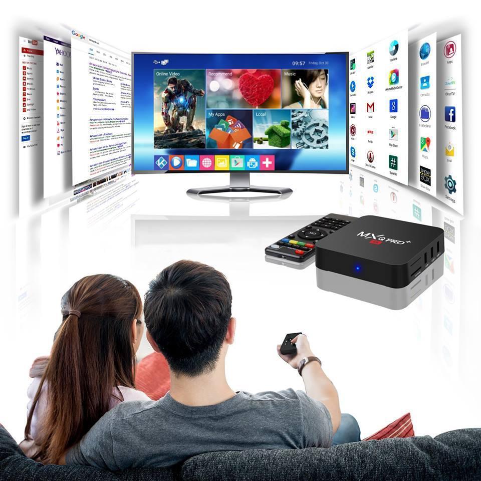 Hình ảnh Tivi Box MXQ-4K Pro Với Android 7.1.2 Biến TV thường trở thành Smart TV Phiên bản 2018