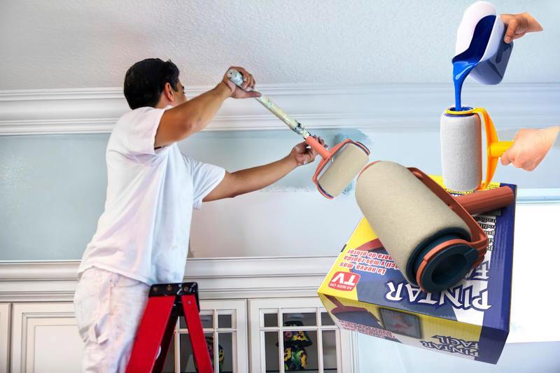 Mẫu Sơn Đẹp, Con lăn sơn thông minh SB468, máy phun sơn giá rẻ - Con lăn sơn không rơi rớt, chống bẩnhàng cao cấp xả kho chỉ hôm nay