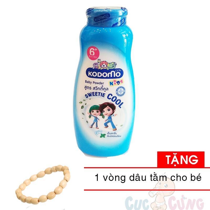 Phấn Kodomo thơm mát - cool - 6 tuổi + 200g - Thái Lan TẶNG 1 vòng dâu tằm cho bé đeo tay