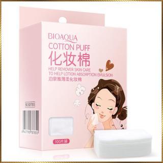 [Lấy mã giảm thêm 30%] Bông tẩy trang hộp 100 miếng Cotton Puff Bioaqua CP12 thumbnail