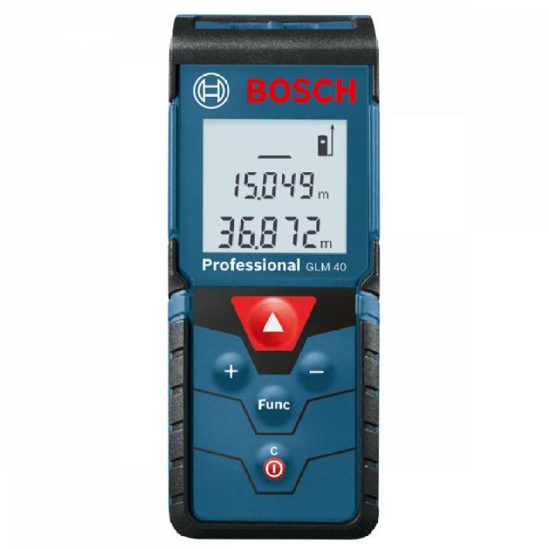 Máy đo khoảng cách bằng tia laser Bosch GLM 40 + Bao đựng